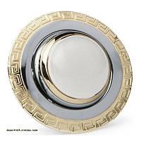 Точечный поворотный светильник R50 хром-золото DELUX_DR50121R_R50 220V хром-зол