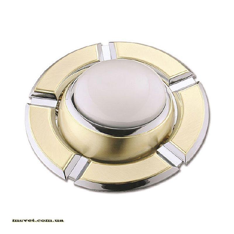 Точечный поворотный светильник R50 золото.мат-хром DELUX_DR50106R_R50 220V зол.мат-хром