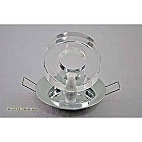 Точечный врезной светильник бублик хром VL-врезной бублик/CR