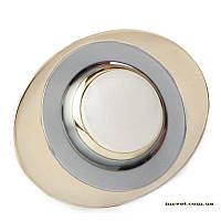 Точечный поворотный светильник R50 хром.мат-золото DELUX_DR50108R_R50 220V хр.мат-зол