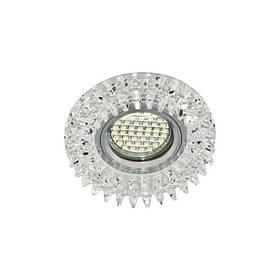 Точечный светильник прозрачный LED  с подсветкой RGB FERON CD2540 led RGB