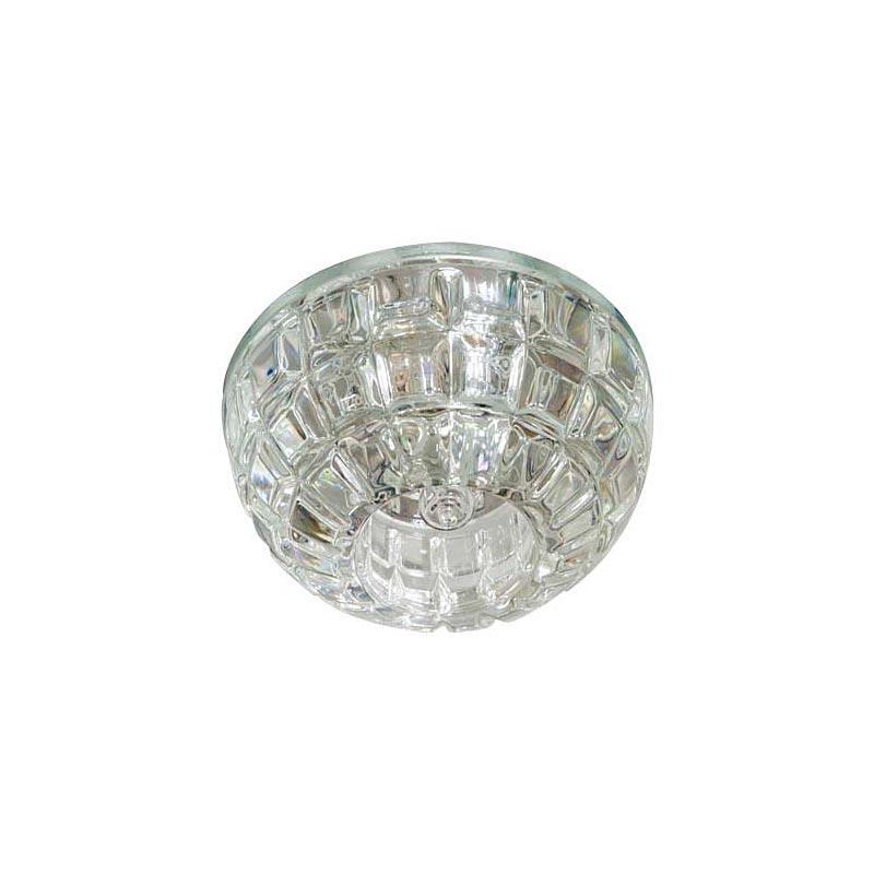 Точечный светильник прозрачный LED  с подсветкой RGB FERON JD87 CL LED RGB
