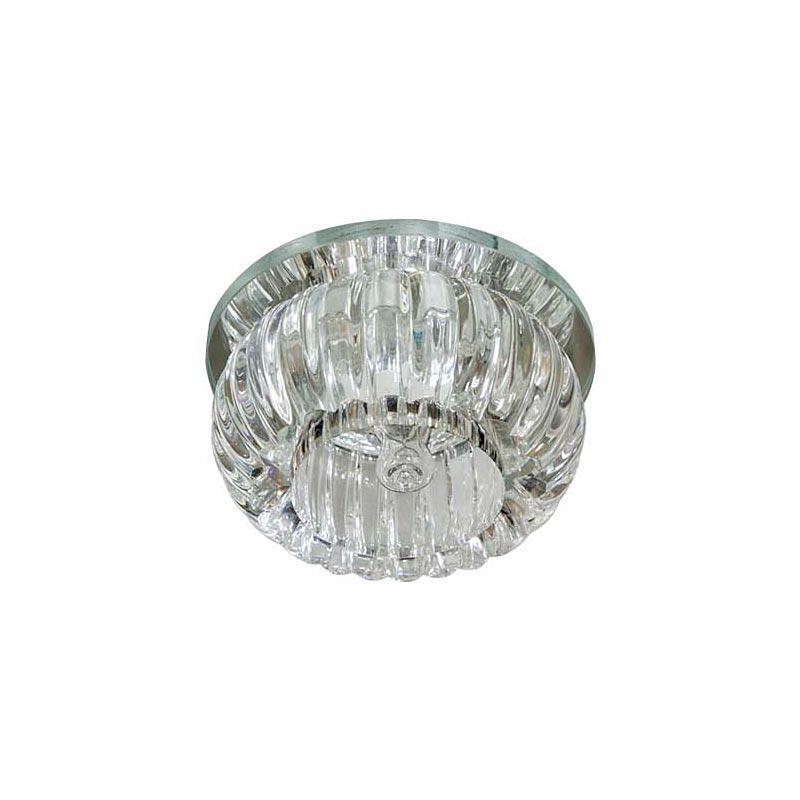 Точечный светильник прозрачный с подсветкой LED FERON C1010 CL с  led  подсветкой