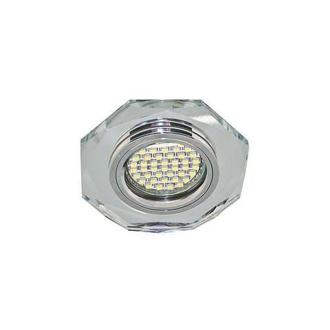 Точечный светильник серебро с подсветкой LED 8020-2 MR16 SV LED