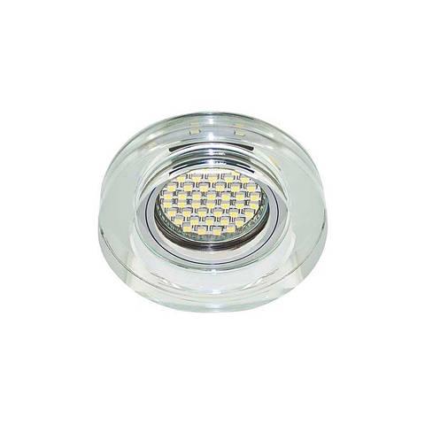 Точечный светильник серебро с подсветкой LED 8080-2 MR16 SV LED