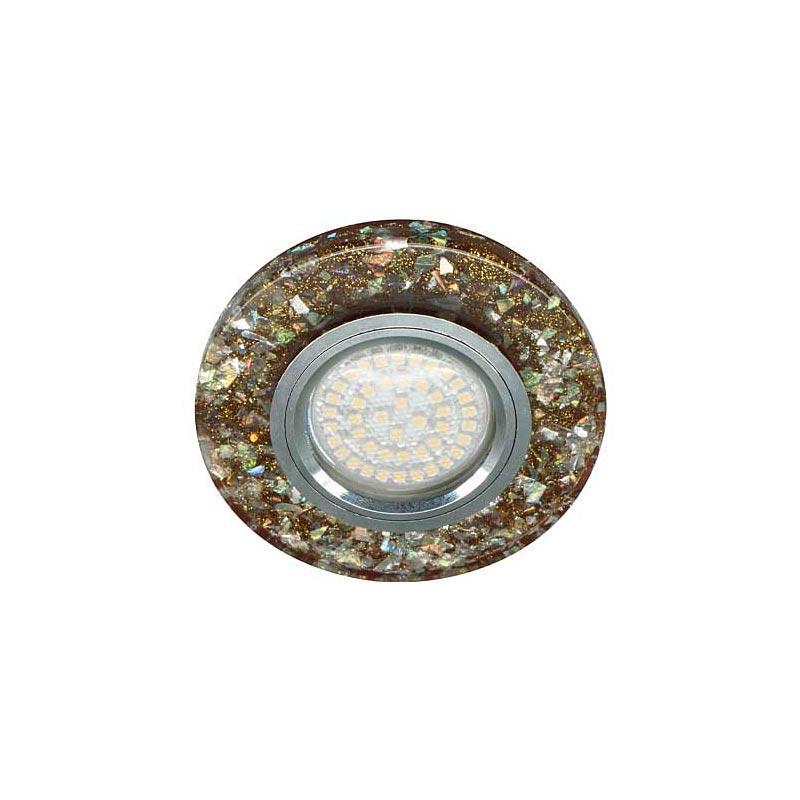 Точечный светильник коричневый серебро с подсветкой LED 8585-2 MR16 BR SV LED