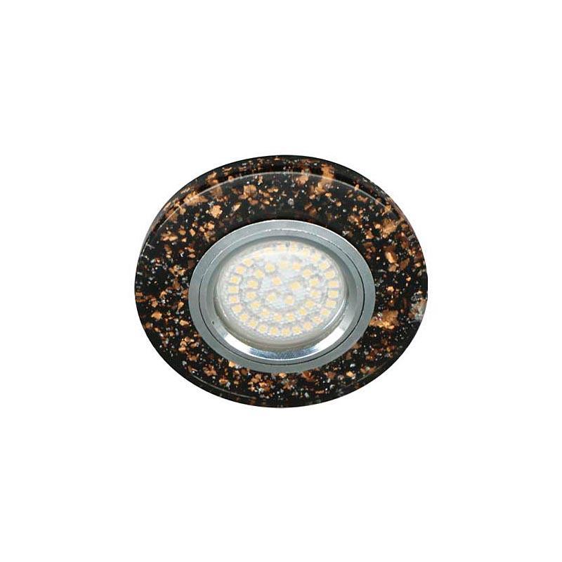 Точечный светильник Черный золото серебро с подсветкой LED 8585-2 MR16 BK SV LED