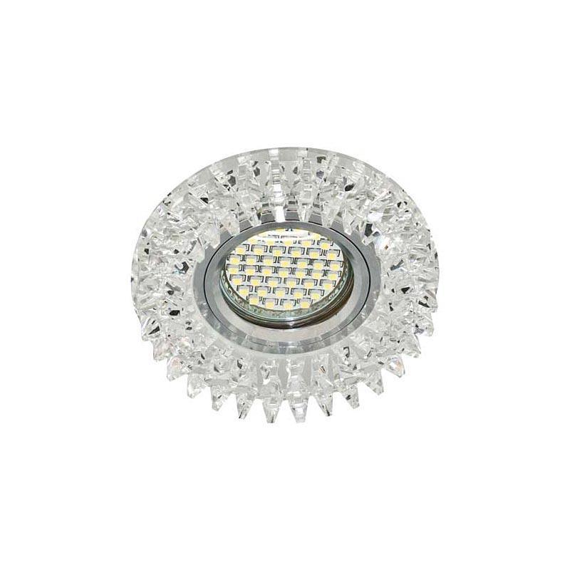 Точечный светильник прозрачный с подсветкой LED FERON CD2540 led