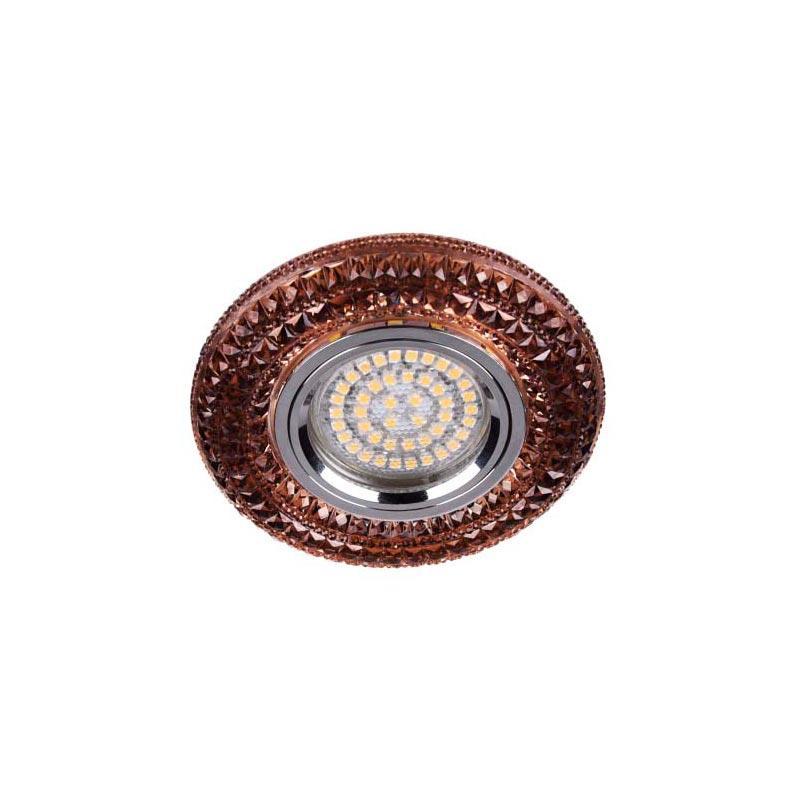 Точечный светильник чайный LED с подсветкой FERON CD877 BRN LED