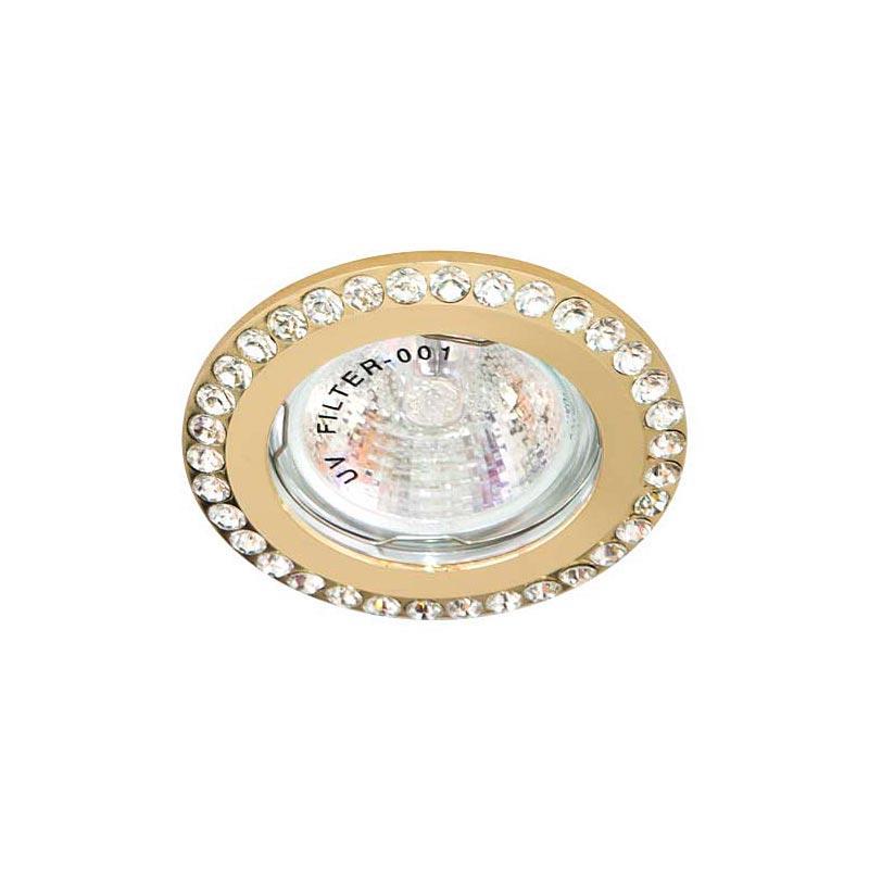 Точечный светильник прозрачный-золото FERON DL100-C MR16 CL FG