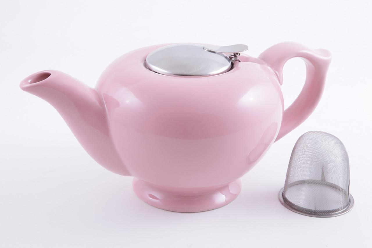 Чайник заварочный керамический 1,2 л розовый Fissman (TP-9206.1200)