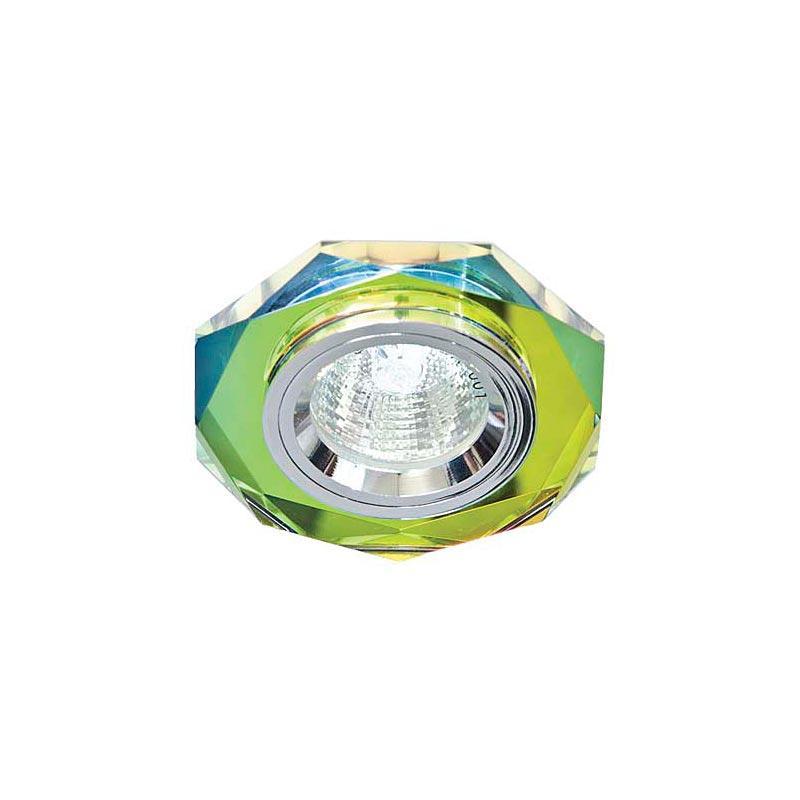 Точечный светильник серебро + 5-цветный мультиколор 8020-2 MR16 5 MTCL-SV