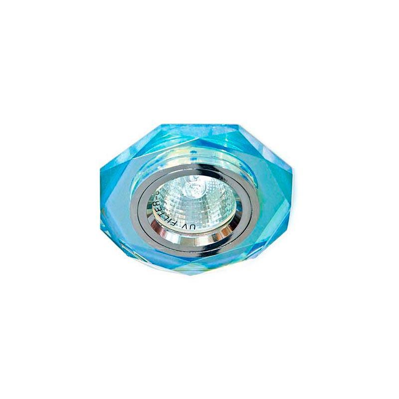 Точечный светильник серебро + 7-цветный мультиколор 8020-2 MR16 7 MTCL-SV