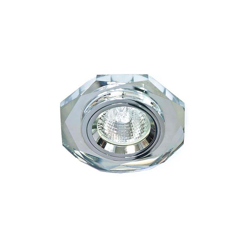 Точечный светильник серебро на серебре 8020-2 MR16 CLR-CLR