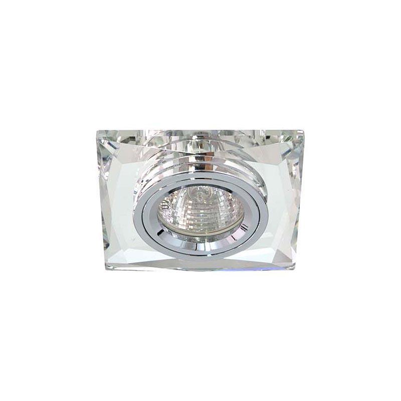 Точечный светильник серебро на серебре 8150-2 MR16 CLR-CLR