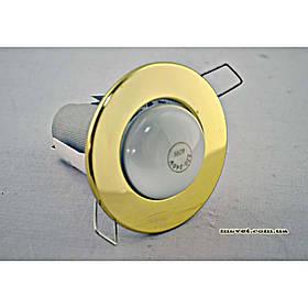 Точечный врезной светильник золото VARIANT R-50 золото зерк.