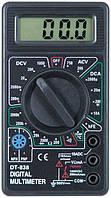 Компактный мультиметр dt-838, цифровой тестер, точность измерений, защита от перегрузок, щупы в комплекте