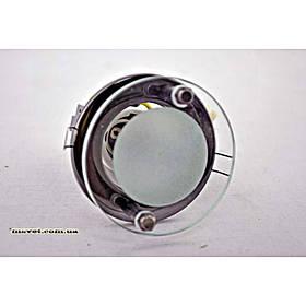 Точечный врезной светильник R39 с декоративным стеклом хром BRILUX R-39SG графит