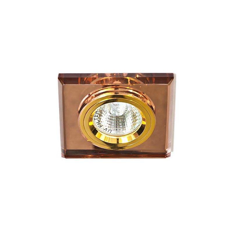 Точечный светильник коричневый + золото 8170-2 MR16 BRN-GD