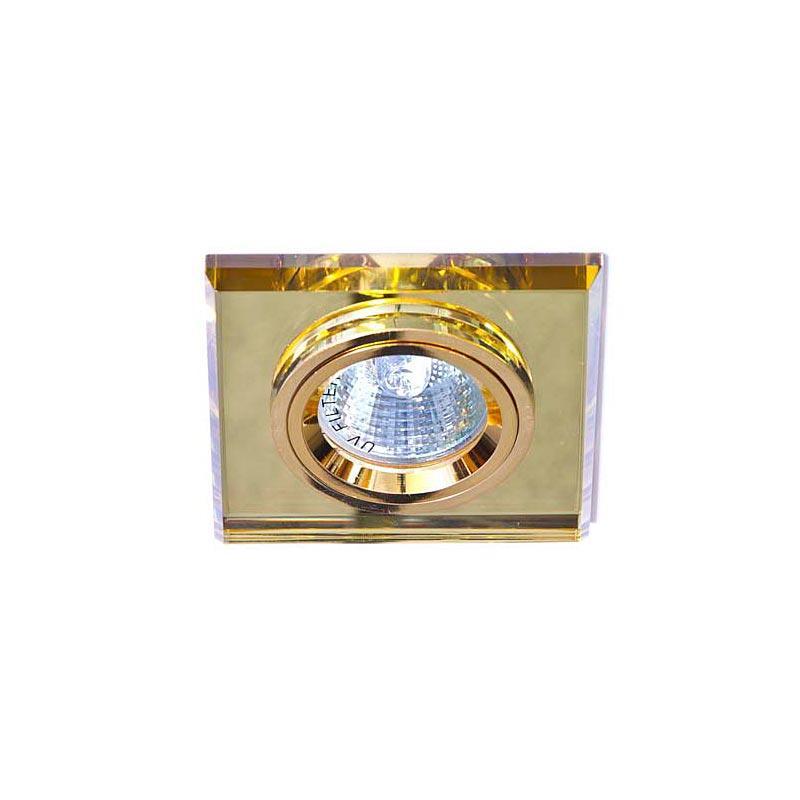 Точечный светильник желтый + золото 8170-2 MR16 YL-GD