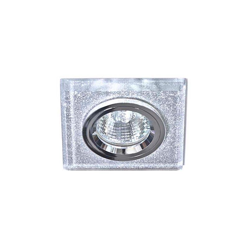 Точечный светильник мерцающее серебро на серебре 8170-2 MR16 MERC CLR-CLR