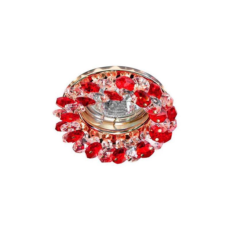 Встраиваемый светильник красный золото CD4141 MR16 RD-GD