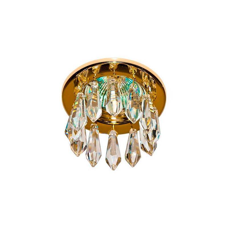 Встраиваемый светильник золото кристальные подвески 4160DL MR16 GD