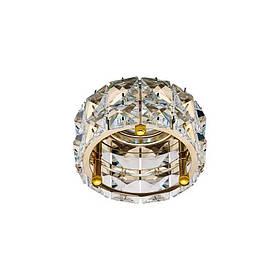 Встраиваемый светильник прозрачный золото CD4527 MR16 CL-FG