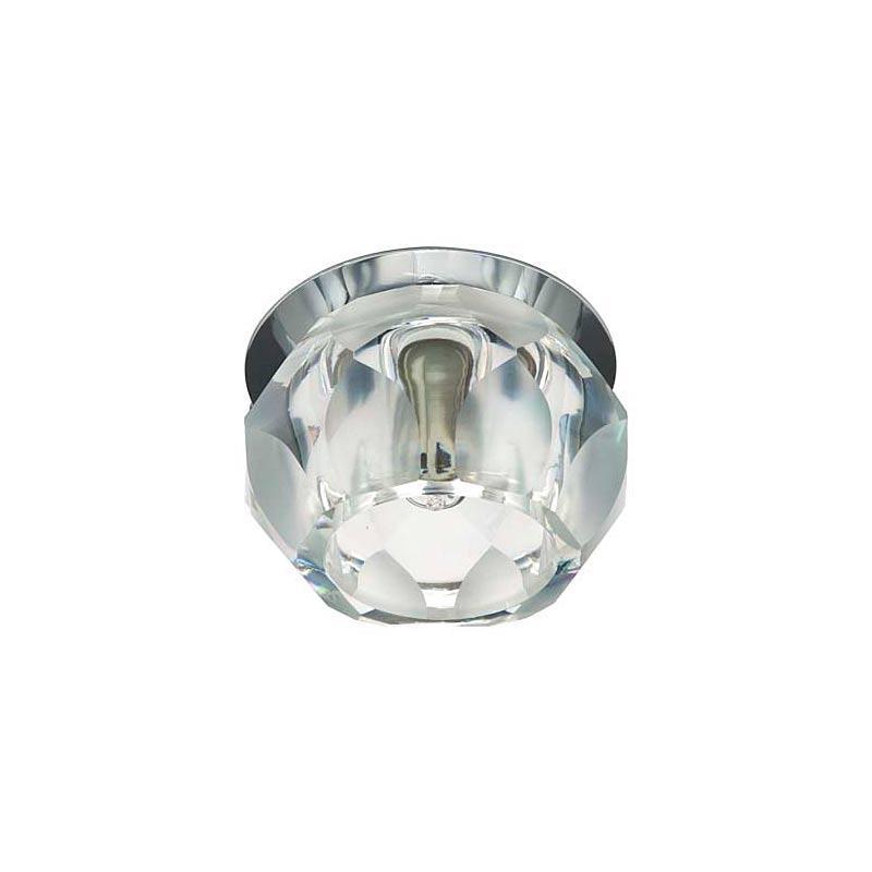Встраиваемый светильник прозрачный матовый хром JD161 JCD9 CL CR