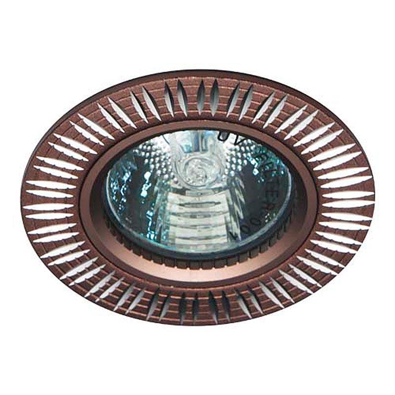 Встраиваемый светильник коричневый литье FERON GS-M369 MR16 G5.3 BRN