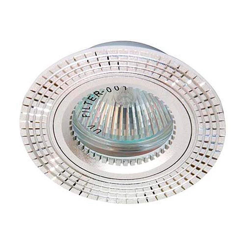 Встраиваемый светильник серебро литье FERON GS-M369 MR16 G5.3 SL