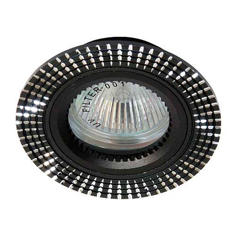 Встраиваемый светильник черный литье FERON GS-M369 MR16 G5.3 BK
