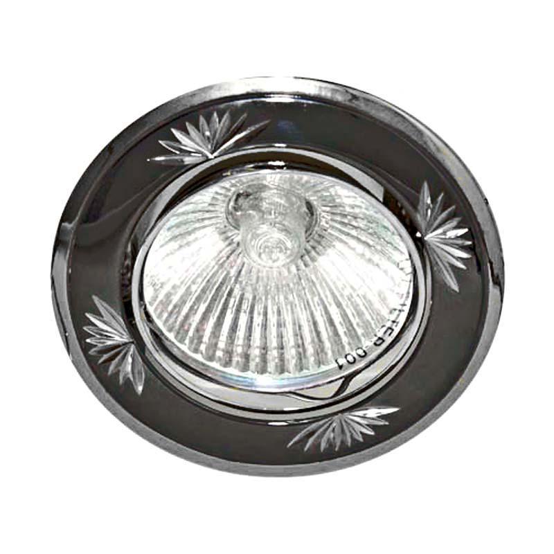 Встраиваемый светильник литье черный металлик серебро FERON 246DL MR16 G5.3 GM SL
