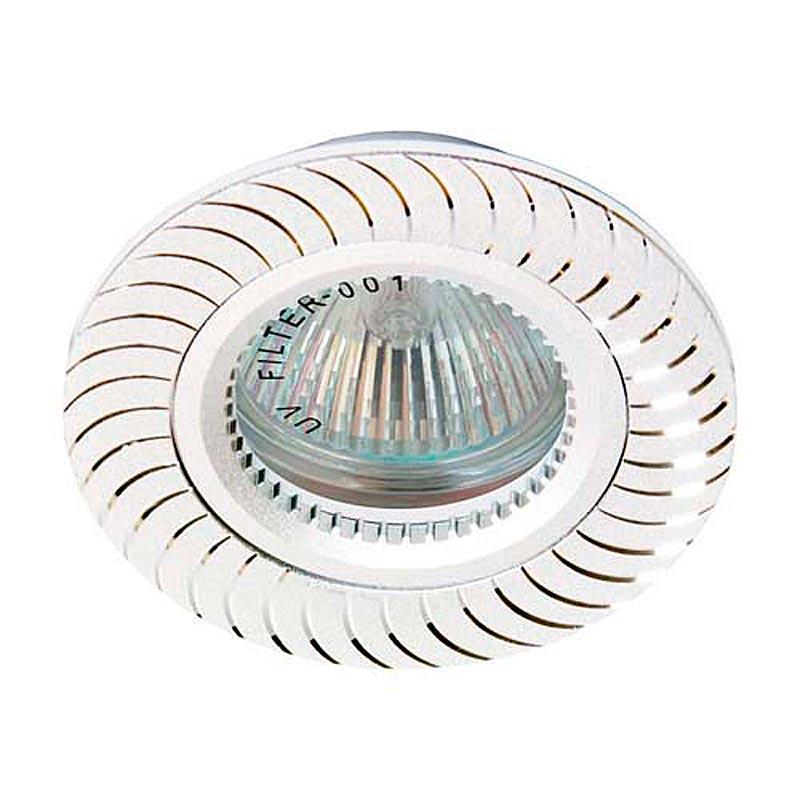 Встраиваемый светильник серебро литье FERON GS-M392 MR16 G5.3 SL