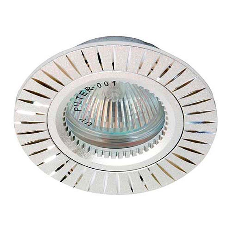 Встраиваемый светильник серебро литье FERON GS-M394 MR16 G5.3 SL