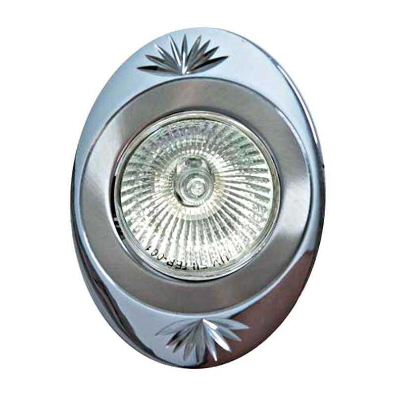Встраиваемый светильник титан хром литье FERON 250DL MR16 G5.3 TN CH