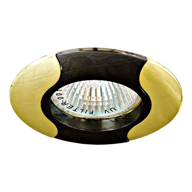 Встраиваемый светильник черный золото FERON 020Т MR-16 L GU 5.3 BK-GD