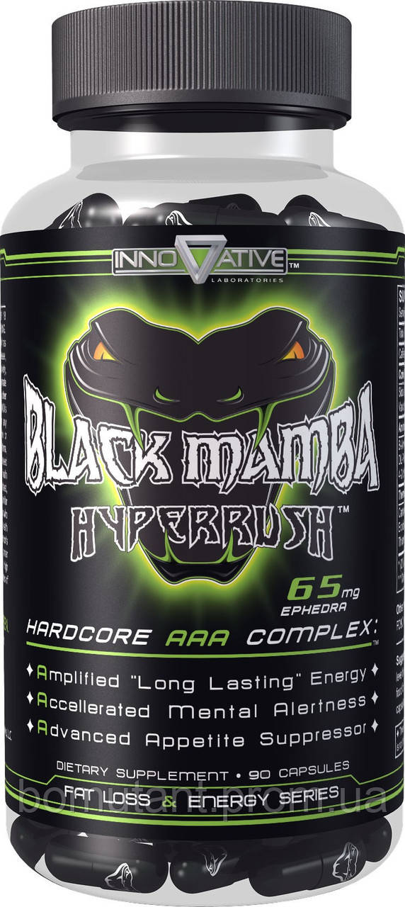Black Mamba 65 mg ephedran 90 капсул Innovative Diet Labs