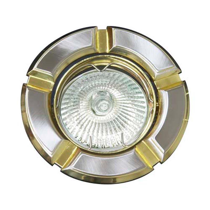 Поворотный встраиваемый светильник титан-золото FERON 098T MR-16 GU5.3 TN-GD