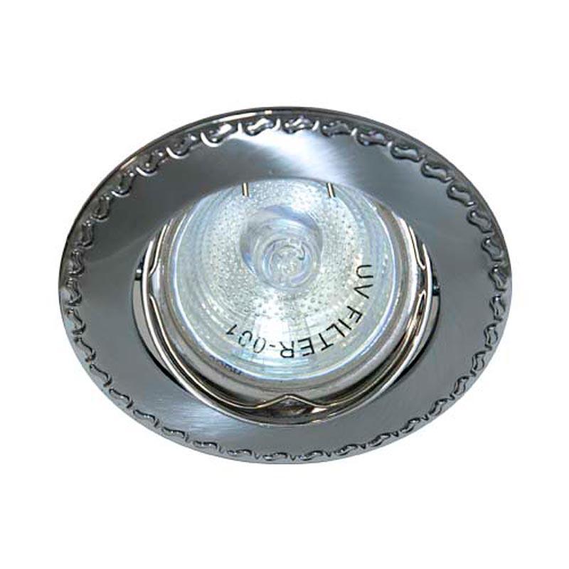Поворотный встраиваемый светильник матовый хром-хром FERON 125T MR-16 GU5.3 CHMAT CH