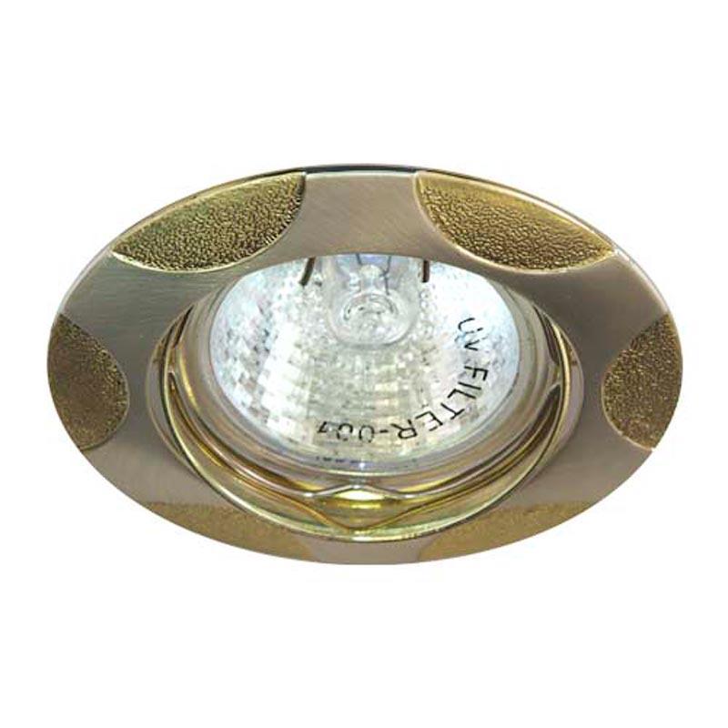 Поворотный встраиваемый светильник матовое серебро - золото FERON 156T MR-16 GU5.3 SLMAT GD