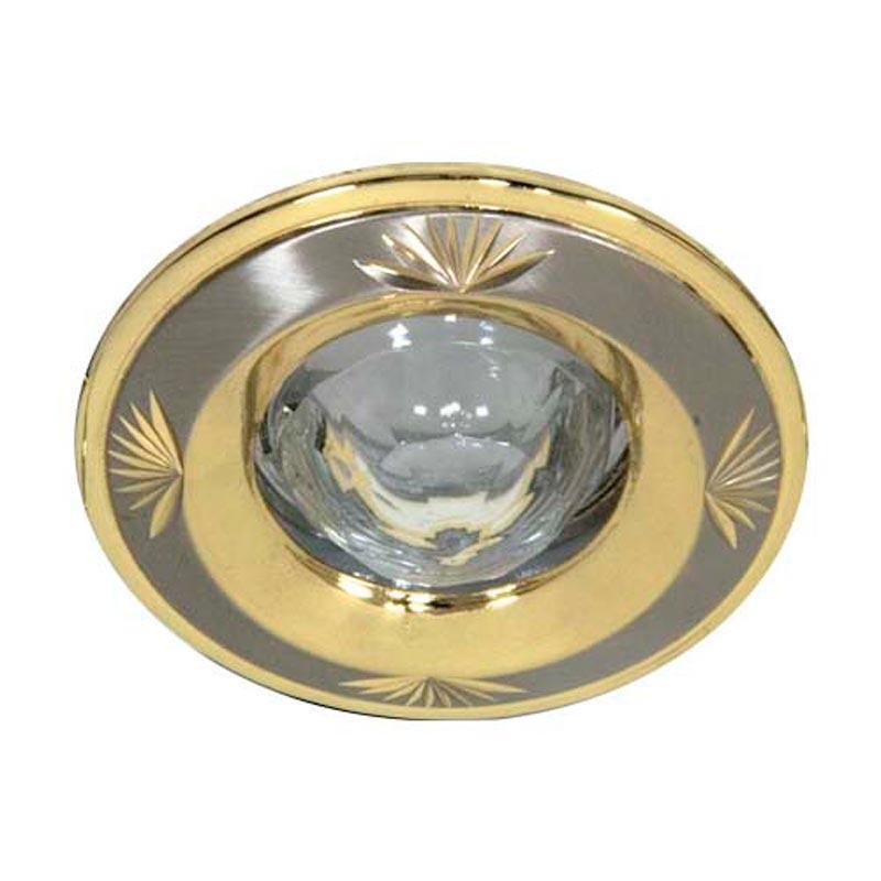 Встраиваемый светильник круглый кристалл титан-золото FERON 2011DL MR16 GU5.3 TN GD