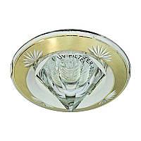 Встраиваемый светильник кристалл золото-серебро FERON 2012DL MR16 GU5.3 SGS