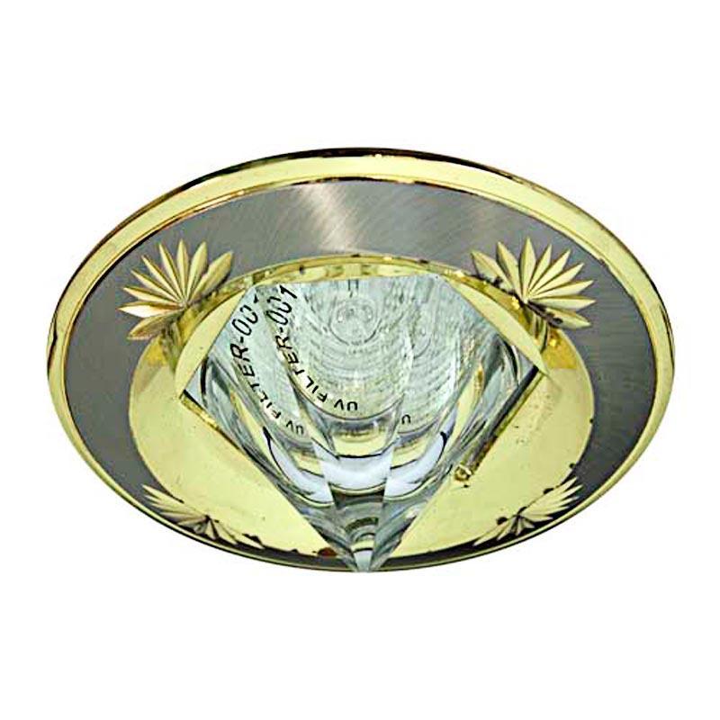 Встраиваемый светильник кристалл титан-золото FERON 2012DL MR16 GU5.3 SNG