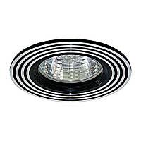 Встраиваемый светильник галогенный серия «Аluminium» серебро-черный FERON CD2300 MR16 GU5.3 SL BK