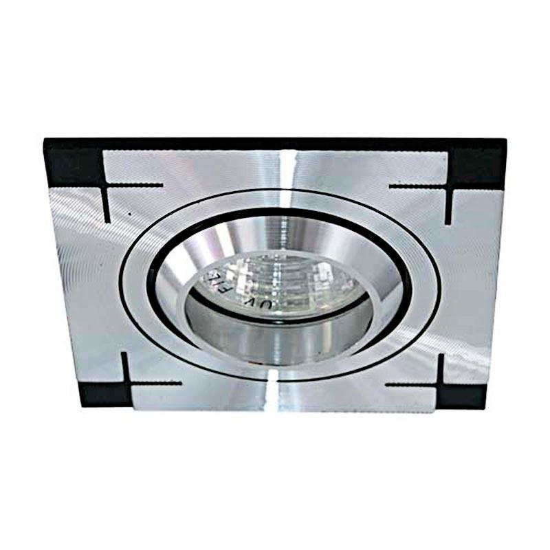 Встраиваемый светильник галогенный серия «Аluminium» алюминиевый FERON CD2330 MR16 G5.3 AL
