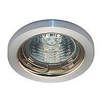 Встраиваемый светильник галогенный матовый алюминий, золото FERON DL1016 MR16 G5.3 MAL GD