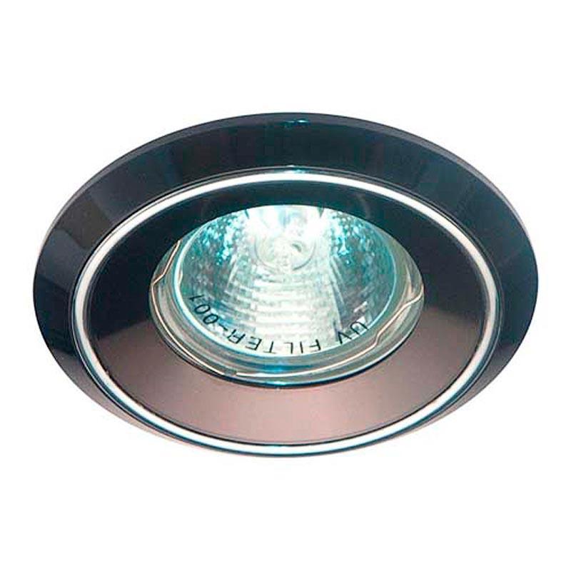Встраиваемый светильник черный алюминий, хром FERON DL1023 MR16 G5.3 BK AL CM