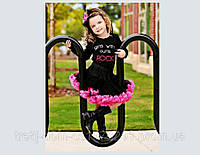 Детские пышные юбки черные в малиновой пене