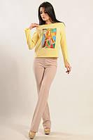 Повседневный женский костюм кофта и брюки 42-52 размер